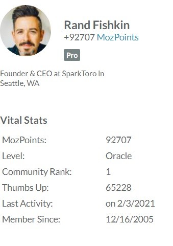 Rand Fishkin: founder and CEO of MOZ
