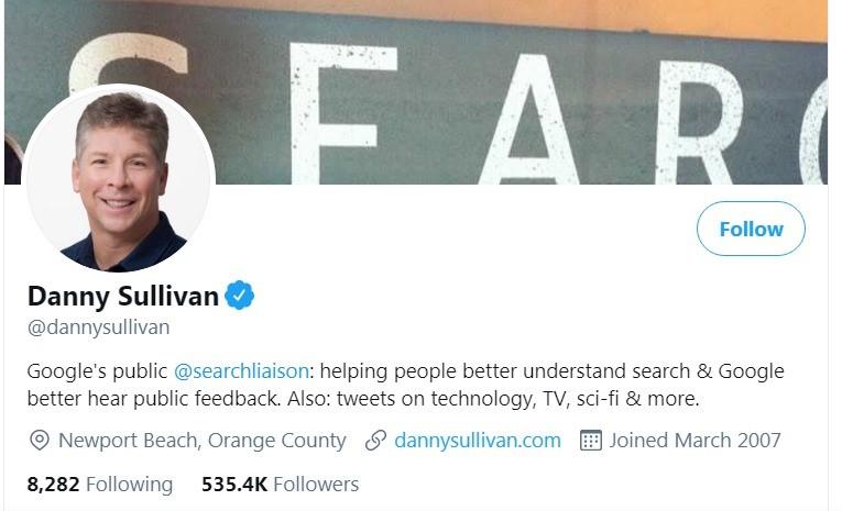 Danny Sullivan: a California based tech journalist