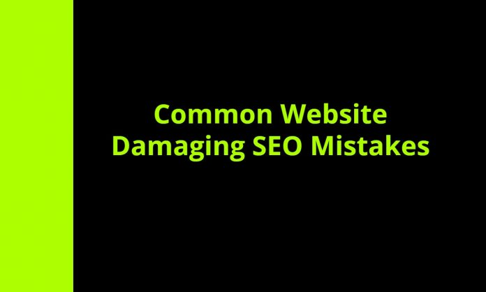 common website damaging SEO mistakes