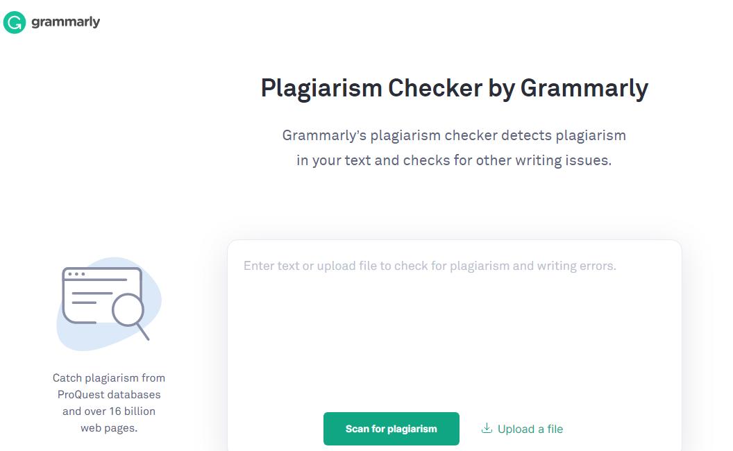 Grammerly plagiarism checker