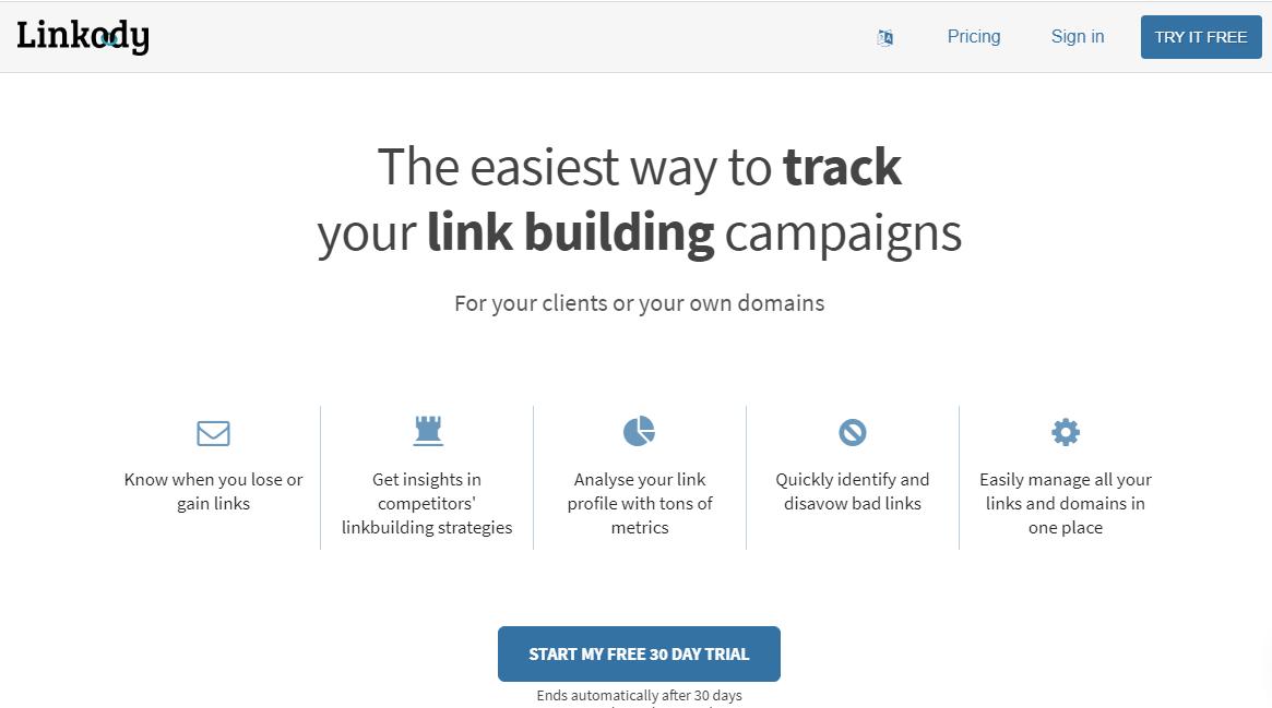 linkody - Backlink Monitor Tools