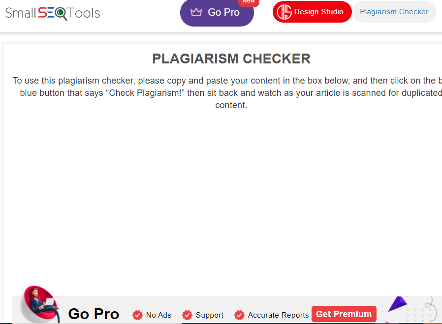 small seo tools plagiarism checker tool